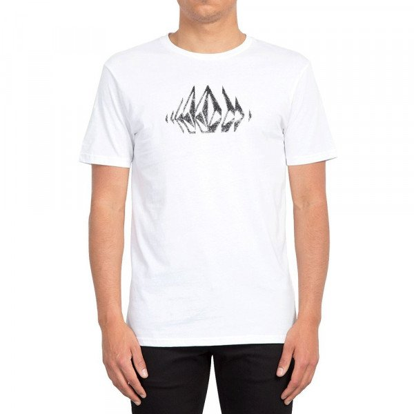 VOLCOM T-SHIRT STONE SOUNDS SS TEE WHT S19