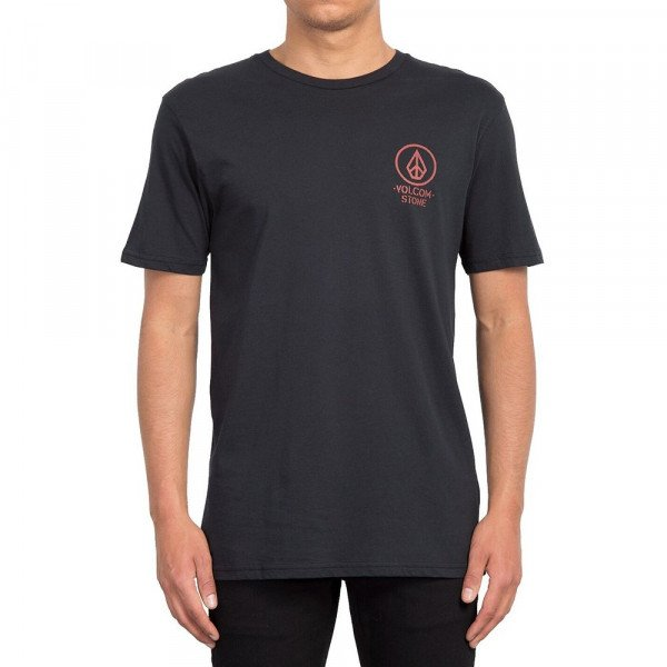 VOLCOM T-SHIRT CROWD CONTROL SS TEE BLK S19