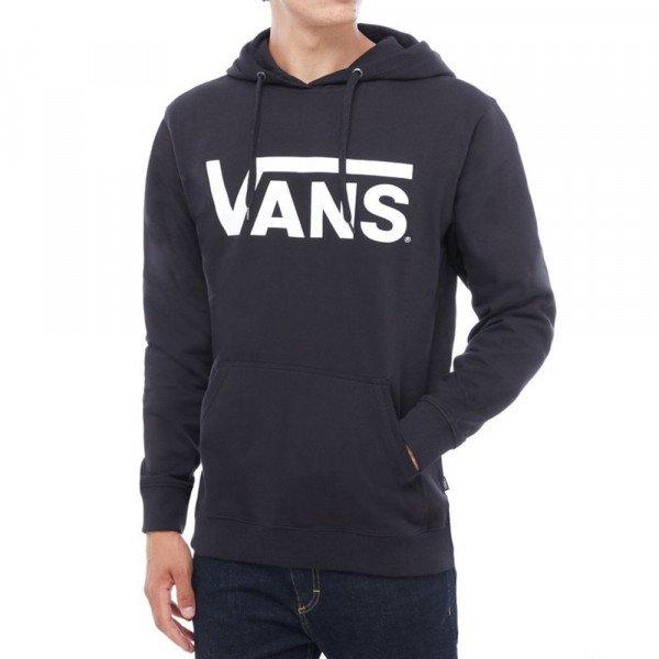 VANS HOOD CLASSIC PULLOVER BLACK WHITE S19