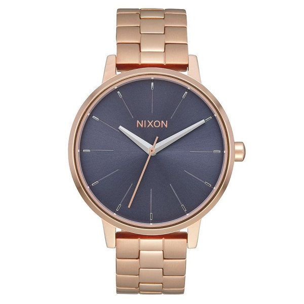 NIXON WATCH KENSINGTON ROSE GOLD STORM