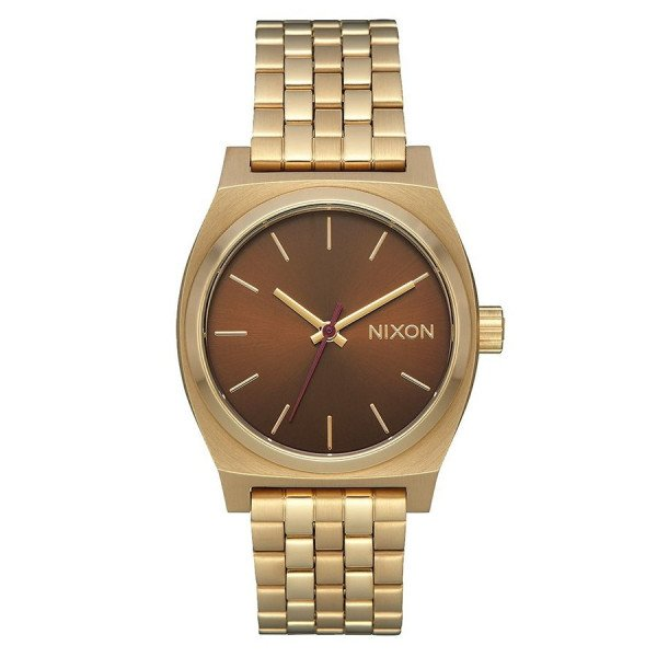 NIXON PULKSTENIS MEDIUM TIME TELLER LIGHT GOLD MANUKA
