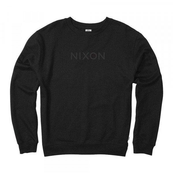 NIXON HOOD WORDMARK CREW BLACK S19