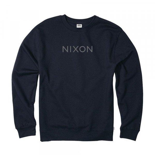 NIXON HOOD WORDMARK CREW NAVY S19