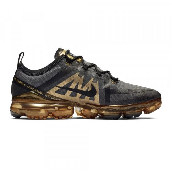 NIKE APAVI AIR VAPORMAX 2019 BLACK BLACK METALLIC GOLD S19