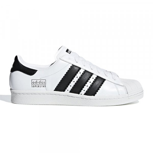 ADIDAS SHOES SUPERSTAR 80S CLOUD WHITE CORE BLACK CRYSTAL S19