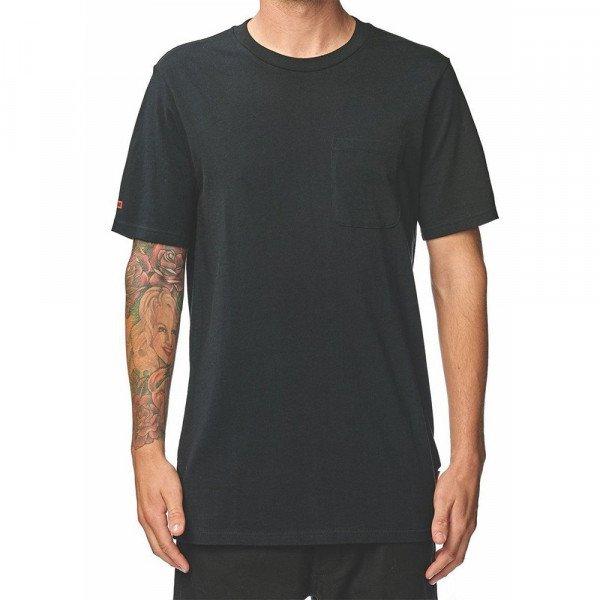 GLOBE T-SHIRT UNEMPLOYABLE POCKET TEE BLACK S19