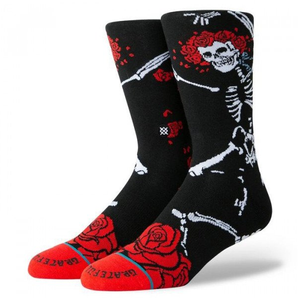 STANCE ZEĶES ANTHEM DEAD HEAD BLACK