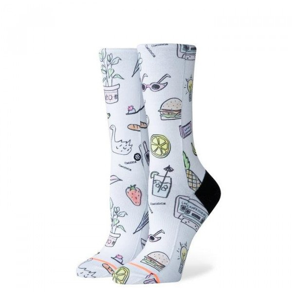 STANCE ZEĶES FOUNDATION WOMEN SHOPPING LIST WHITE