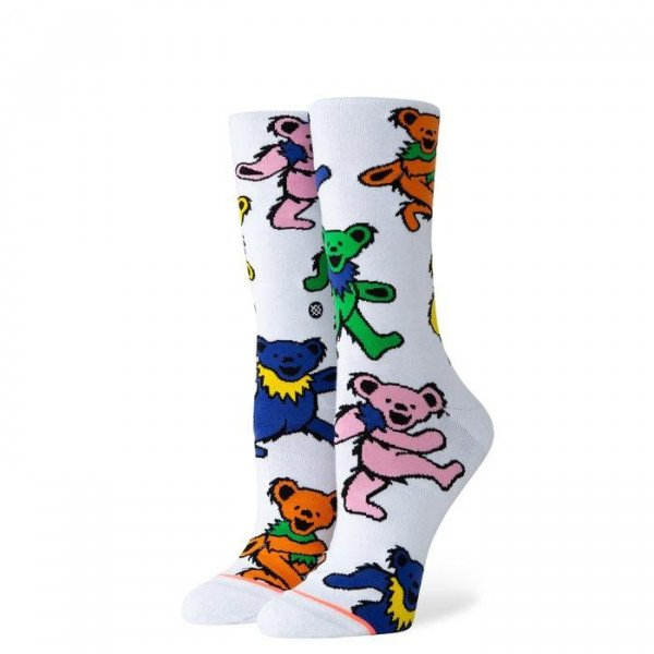 STANCE ZEĶES FOUNDATION WOMEN BEARS CHOISE WHITE