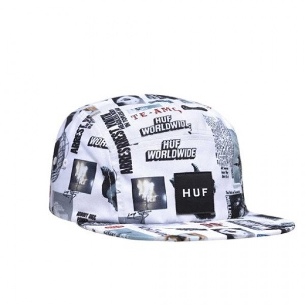 HUF CEPURE VOLLEY HAT HEADLINES WHITE S19