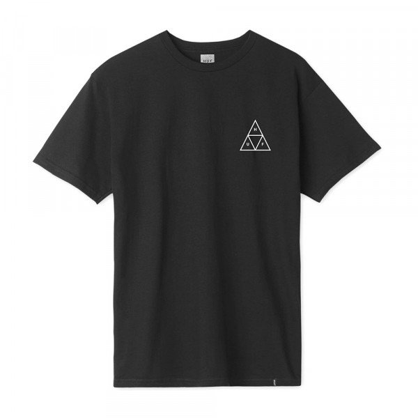 HUF T-SHIRT ESSENTIALS TRIPLE TRIANGLE BLACK S19