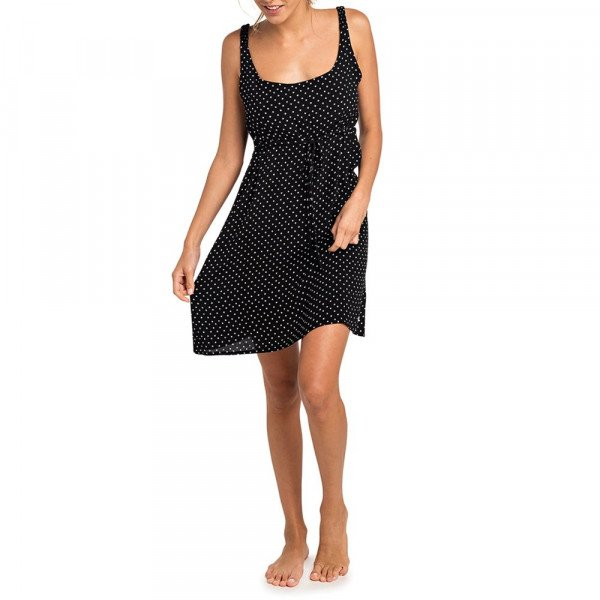 RIP CURL KLEITA MISTY MINI DRESS BLACK S19