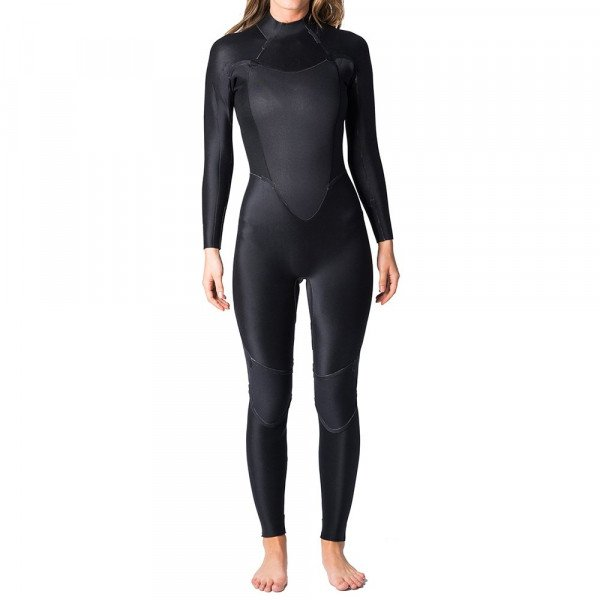 RIP CURL WETSUIT OMEGA 53 GB BACK ZIP W BLACK S19