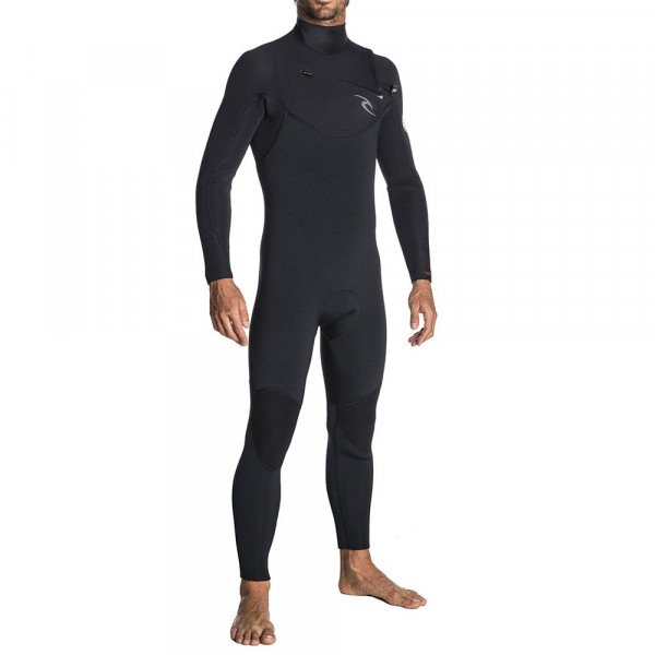 RIP CURL HIDROTĒRPS DAWN PATROL CHEST ZIP 43 BLACK S19