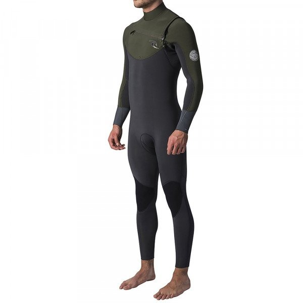 RIP CURL WETSUIT DAWN PATROL CHEST ZIP 53 KHAKI S19