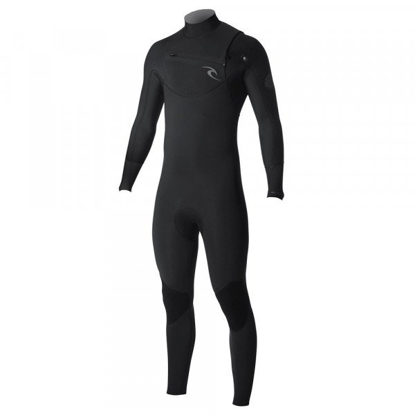 RIP CURL WETSUIT DAWN PATROL CHEST ZIP 53 BLACK S19