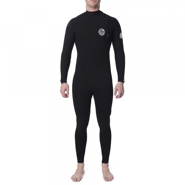 RIP CURL WETSUIT E BOMB 43 GB ZIP FREE SLATE S19