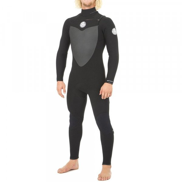 RIP CURL WETSUIT FLASH BOMB 53 GB CHEST ZIP BLACK S19