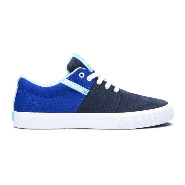SUPRA APAVI STACKS II VULC KIDS ROYAL NAVY WHITE S19