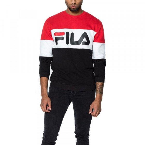 FILA HOOD MEN STRAIGHT BLOCKED BLACK RED S19