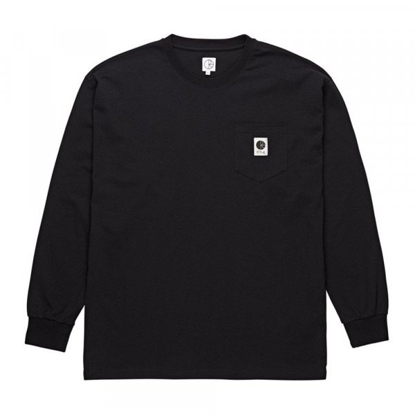 POLAR T-SHIRT POCKET LONGSLEEVE BLACK S19