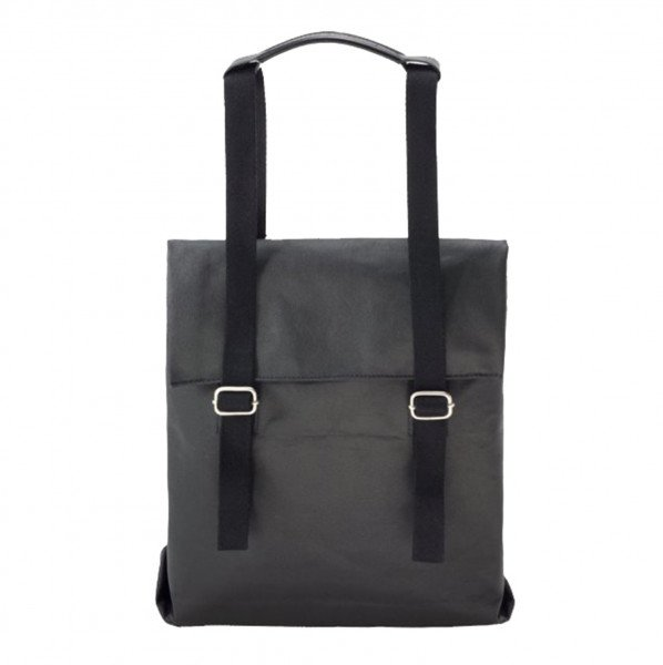 QWSTION SOMA SMALL TOTE ORGANIC JET BLACK