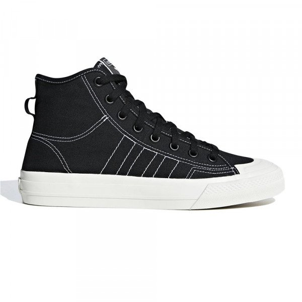 ADIDAS SHOES NIZZA HI RF CORE BLACK WHITE S19