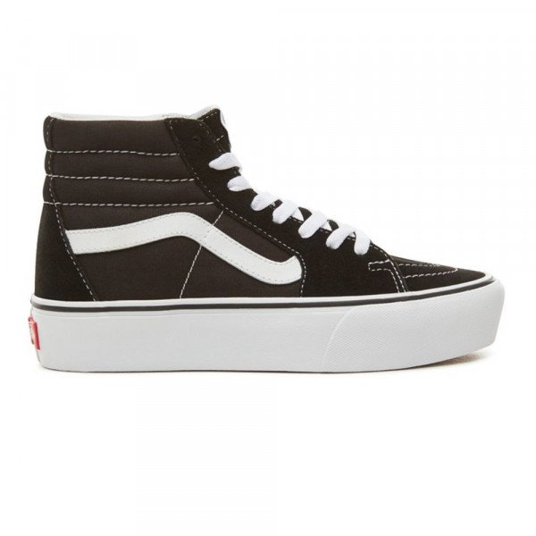 VANS SHOES SK8-HI PLATFORM 2.0 BLACK TRUE WHITE S19