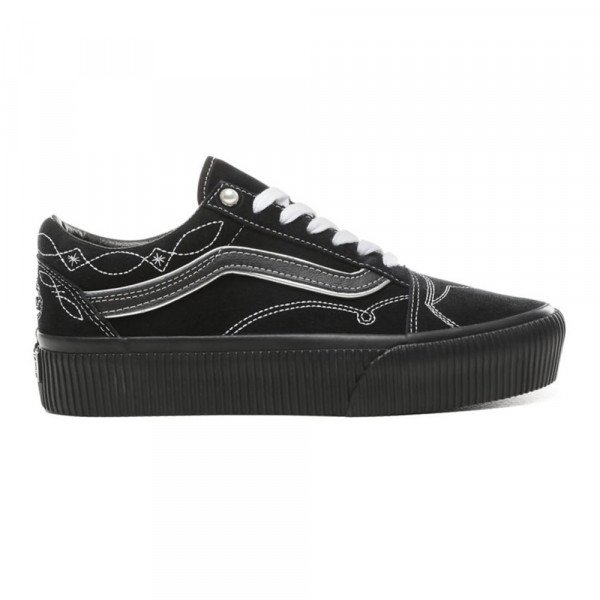VANS APAVI OLD SKOOL PLATFORM (PEARLY PUNK) BLACK BLACK S19
