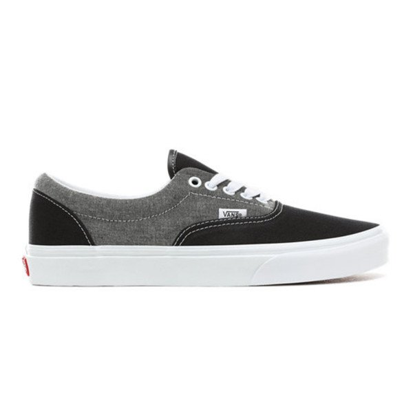 VANS SHOES ERA (CHAMBRAY) CANVAS BLACK TRUE WHITE S19