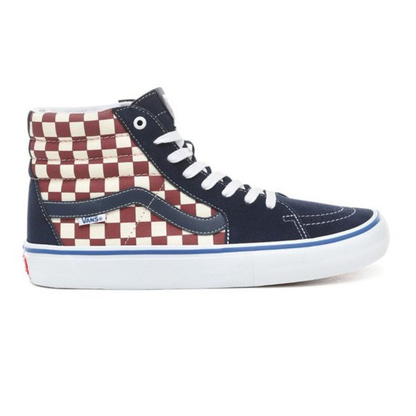VANS SHOES SK8-HI PRO (CHECKER) DRESS BLUES S19
