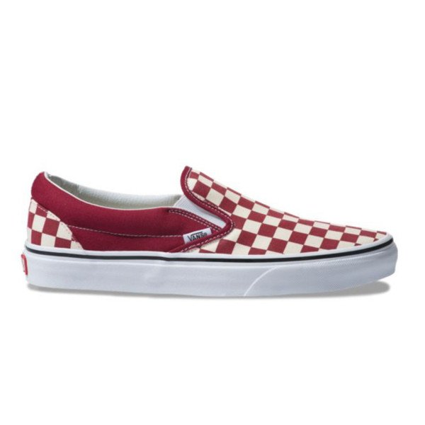 VANS APAVI CLASSIC SLIP-ON (CHECKERBOARD) RUMBA RED TRUE WHITE S19