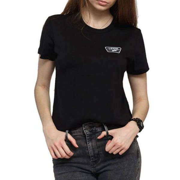 VANS T-SHIRT FULL PATCH CREW TEE BLACK S19