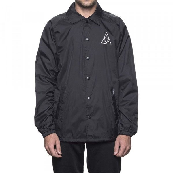 HUF JAKA COACHES JACKET ESSENTIALS TT BLACK S19