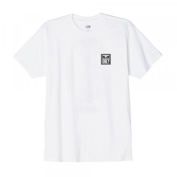 OBEY T-SHIRT OBEY EYES ICON WHT S19