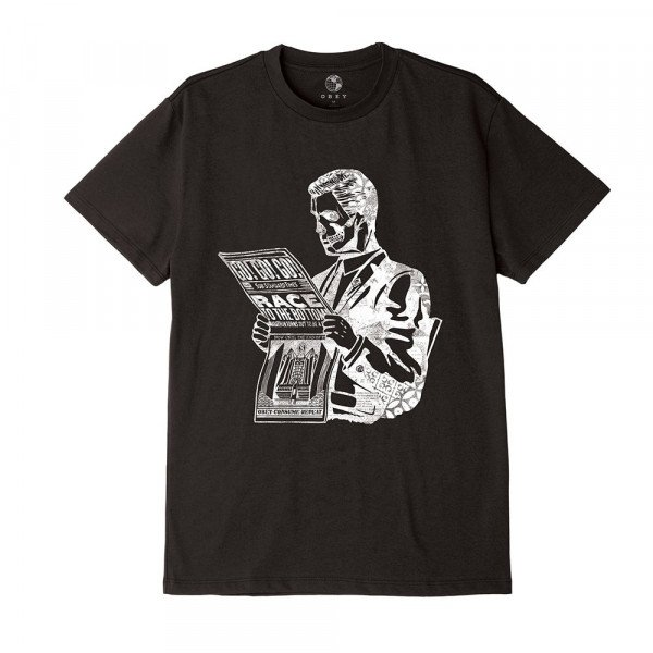 OBEY T-SHIRT RACE TO THE BOTTOM BLK S19