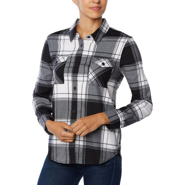 DAKINE KREKLS NOELLA TECH FLANNEL BRIGHT WHITE S19