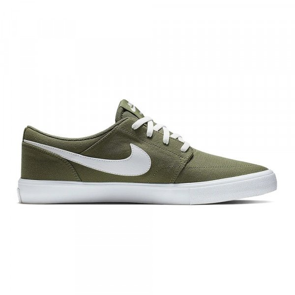 NIKE SHOES SB PORTMORE II SOLAR CNVS MEDIUM OLIVE S19