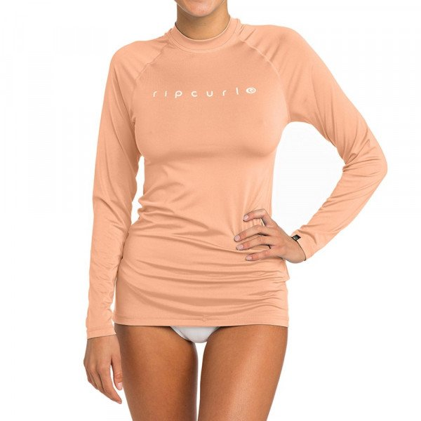 RIP CURL LIKRA SUNNY RAYS RELAXED L/SL PEACH S19