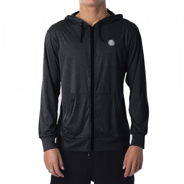 RIP CURL ZIP-HOOD SEARCH SURFLITE HOOD BLACK MARLED S19
