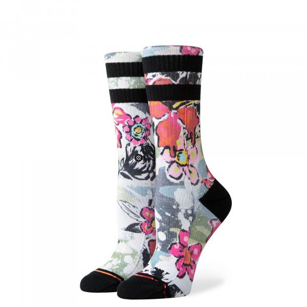 STANCE ZEĶES FOUNDATION WOMEN SOUL FLOWER CREW MULTI