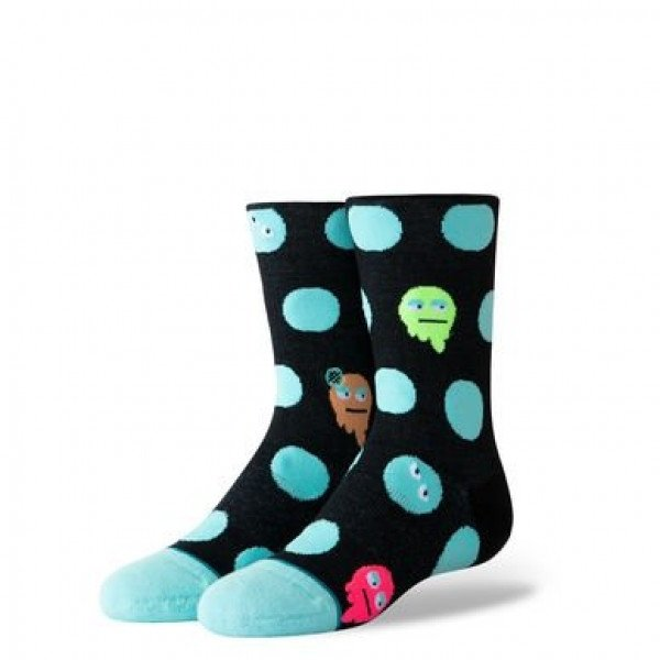 STANCE ZEĶES MONSTER DOT KIDS BLACK