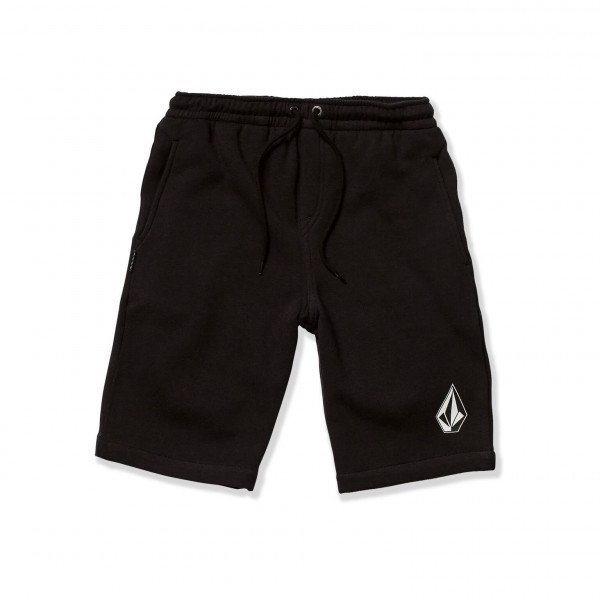 VOLCOM SHORTS DEADLY STNS FLC SHT KIDS BLK S19