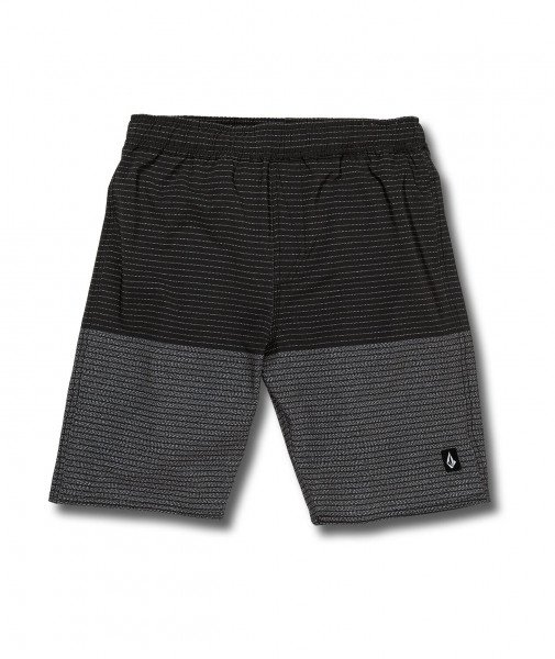 VOLCOM SHORTS LIDO HEATHER TRUNK KIDS BLK S19