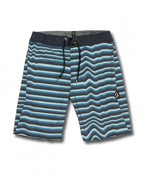 VOLCOM SHORTS AURA STRIPE BOARDSHORT KIDS VBL