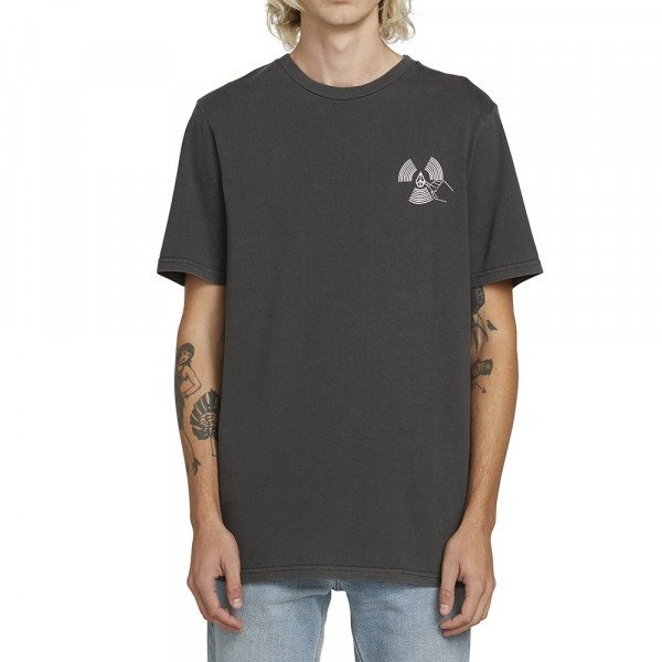 VOLCOM T-SHIRT PUSH THIS S/S TEE BLK S19