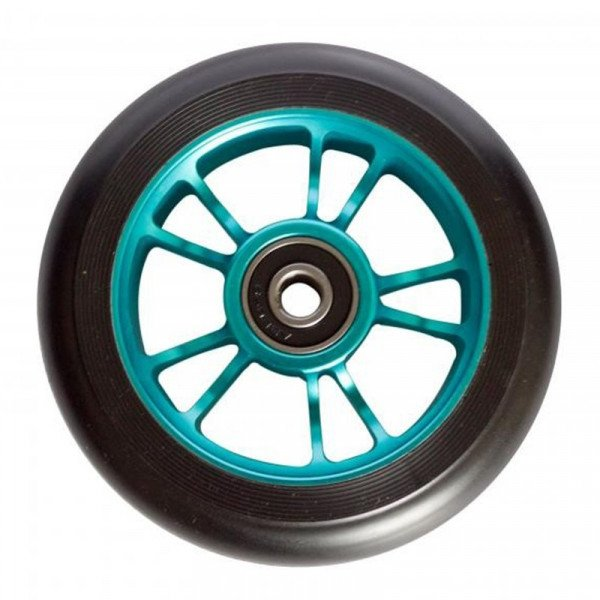 BLUNT WHEELS WHEEL 10 SPOKES 100MM TEAL