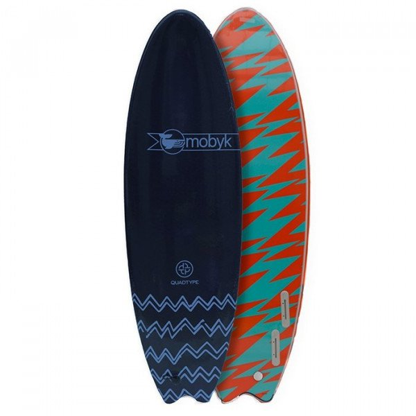 MOBYK SURFBOARD FISH QUAD 6'6
