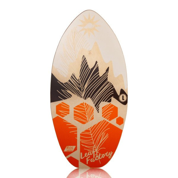 LEAF FACTORY SKIMBOARD LEAF ROS BROWN STAR L