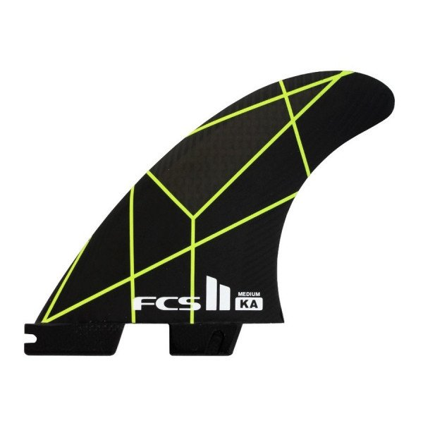 FCS FINS II KA PC GREY YELLOW MEDIUM TRI
